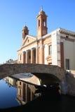 Ponte degli Sbirri i Comacchio, Italien Royaltyfria Bilder