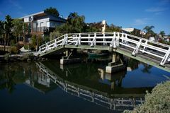 Ponte dei canali di Venezia, Los Angeles fotografia stock libera da diritti