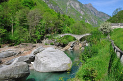 Ponte Dei Salti,Lavertezzo,Ticino Stock Photo