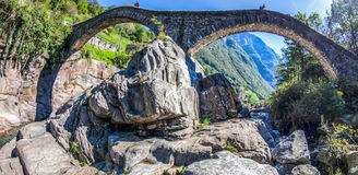 Ponte Dei Salti, Verzasca Valley, Switzerland Stock Images