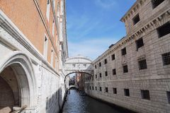 Ponte dei Sospiri. The Ponte dei Sospiri in venezia Stock Image