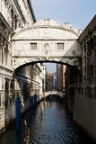Ponte dei sospiri the bridge of sighs. In the beautiful city of venice in italy stock photography