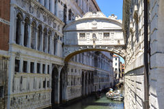 Ponte dei Sospiri : The Bridge of Sighs Royalty Free Stock Photo