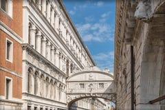 Ponte dei Sospiri Bridge of Sighs in Venice Stock Image