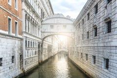 Ponte dei Sospiri Bridge of Sighs in Venice, Italy.  Stock Images