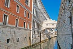 Ponte dei sospiri. On a clear day Royalty Free Stock Photo