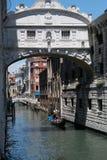 Ponte dei Sospiri en Venezia Fotografering för Bildbyråer