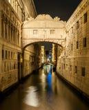 Ponte dei Sospiri by night. A long exposure of the Ponte dei Sospiri by night Stock Images