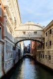 Ponte dei Sospiri. Picture of the famous romantic closed bridge Ponte dei Sospiri to the historical prison at the lagoon city of stone Venice. Picture was shot Royalty Free Stock Image