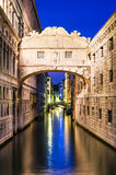 Ponte dei Sospiri in Venice, Bridge of Sighs Royalty Free Stock Photo