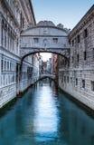 Ponte dei Sospiri in Venice, Bridge of Sighs stock photo