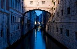 Ponte dei Sospiri. In Venice at dusk, Italy Stock Image