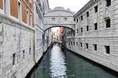 Ponte dei sospiri in Venice, Italy. Ponte dei sospiri and venetian canal in Venice, Italy Royalty Free Stock Image