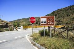 """Ponte del †della valle del Duero """"sopra il fiume del Coa Fotografia Stock Libera da Diritti"""