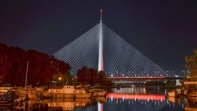 Ponte del Ada a Belgrado Fotografie Stock