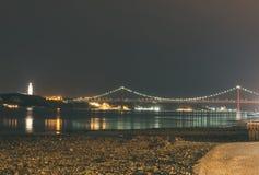 Ponte del 25 aprile Immagini Stock Libere da Diritti