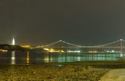 Ponte del 25 aprile Fotografia Stock
