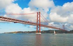 Ponte del 25 aprile Fotografie Stock