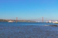 Ponte del 25 aprile, Lisbona Fotografia Stock