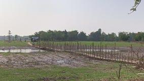 Ponte del bambù dell'incrocio di Moto archivi video