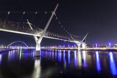 Ponte del canale dell'acqua del Dubai Fotografie Stock Libere da Diritti