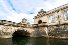 Ponte del canale della costruzione a Copenhaghen fotografia stock libera da diritti