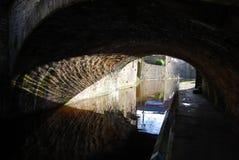 Ponte del canale di Skipton Immagini Stock Libere da Diritti