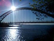 Ponte del cielo della baia di Humber Immagine Stock