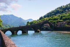 Ponte Del Diavolo, Włochy, Europa Zdjęcia Royalty Free