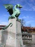Ponte del drago a Transferrina, Slovenia fotografia stock