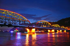 Ponte del ferro di Zhongshan Fotografia Stock Libera da Diritti