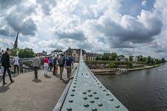 Ponte del ferro nella citt? di Francoforte sul Meno fotografia stock