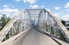 Ponte del ferro sopra il fiume Fotografia Stock Libera da Diritti