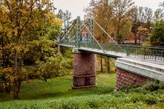 Ponte del ferro sull'alta torre Fotografie Stock