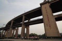 Ponte del fiume Fotografie Stock