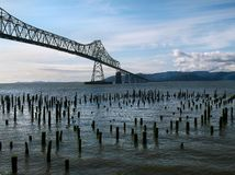 Ponte del fiume Columbia Astoria immagine stock