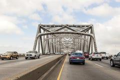 Ponte del fiume di Calcasieu in Westlake, U.S.A. immagine stock libera da diritti