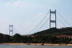 Ponte del fiume di Changjiang Immagine Stock