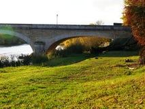 Ponte del fiume di Cher in Touraine fotografia stock