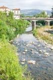 Ponte del fiume di Porretta Terme Reno Fotografie Stock Libere da Diritti