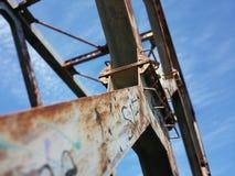 Ponte del metallo Fotografie Stock