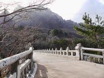 Ponte del oncrete del ¡ di Ð nel parco nazionale di Seoraksan Fotografia Stock Libera da Diritti