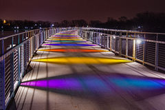 Ponte del parco del lago Gray's Fotografie Stock
