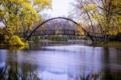 Ponte del parco di Tenney Fotografia Stock Libera da Diritti