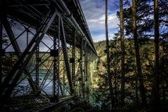 Ponte del passaggio di inganno fotografie stock