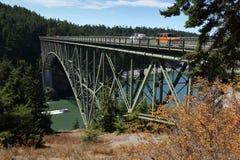 Ponte del passaggio di inganno, Washington State, U.S.A. Immagine Stock Libera da Diritti