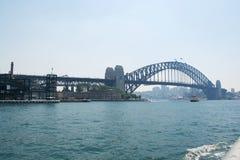 Ponte del porto Fotografie Stock Libere da Diritti