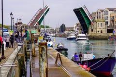 Ponte del porto di Weymouth fotografia stock libera da diritti