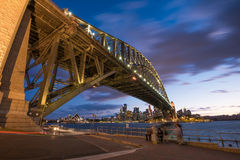 Ponte del porto e del teatro dell'opera in Sydney Australia Fotografie Stock Libere da Diritti
