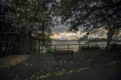 Ponte del porto e del teatro dell'opera in Sydney Australia Fotografia Stock Libera da Diritti